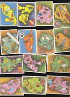 France Par Départements - Lot De 14 Images - Fromage Gruyere Unic - Old Paper