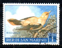 SAINT-MARIN. N°479 De 1960 Oblitéré. Loriot. - Songbirds & Tree Dwellers