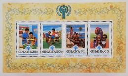 "Ghana 1980 Intl.Year Of The Child S/S Overprinted ""PAPAL VISIT"" - Ghana (1957-...)"