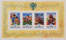 "Ghana 1980 Intl.Year Of The Child S/S Overprinted ""PAPAL VISIT"" Imperf. - Ghana (1957-...)"