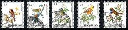 SAINT-MARIN. N°810-4 De 1972 Oblitérés. Moineau/Roitelet/Mésange. - Songbirds & Tree Dwellers