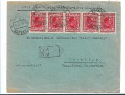 Yu007a / Jugoslawien -  Einschreibebrief.  Reine Mehrfachfrankatur König Alexander 1926 - 1919-1929 Königreich Der Serben, Kroaten & Slowenen
