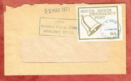 Streikpost, Brief, South Devon Emergency Post, E R Bell Exmouth, 1971 (55794) - 1952-.... (Elizabeth II)