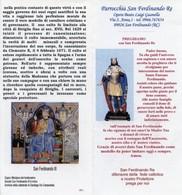 San Ferdinando RC - Santino Depliant SAN FERDINANDO RE - PERFETTO P62 - Religione & Esoterismo