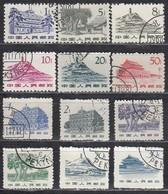 CHINA 1962 - Partie Bauwerke 12x  Used - 1949 - ... Volksrepublik