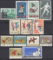 CHINA 1962-1964 - Partie 13 Verschiedene  Used - 1949 - ... Volksrepublik