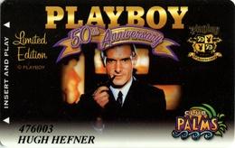 Palms Casino Playboy 50th Anniversary Hugh Hefner's Card - Slot Card - Hotel Keycards