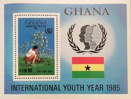 Ghana 1985 International Youth Year S/S - Ghana (1957-...)