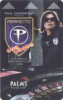Palms Casino Perfecto Paul Ockenfold #2 - Room Key - Hotel Keycards