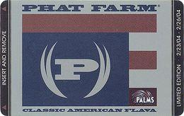 Palms Casino Phat Farm - Room Key - Hotel Keycards