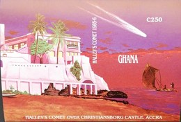 """Ghana 1987 Halley""""s Comet S/S Imperf. POSTAGE FEE TO BE ADDED ON ALL ITEMS - Ghana (1957-...)"""