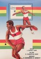 "Ghana 1989 Summer Olympics,Seoul S/S Ovptd. With Winner"" Names - Ghana (1957-...)"