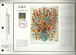 CEF N° : 751. CROIX ROUGE . CALY . LA CORBEILLE ROSE . 24 NOVEMBRE 1984 . GRASSE . - FDC