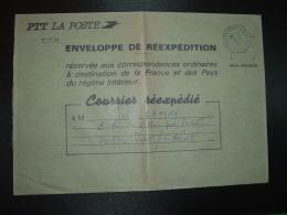 LETTRE PTT LA POSTE ENVELOPPE DE REEXPEDITION OBL.28-3 1986 21 MARSANNAY  LA COTE COTE D'OR - Marcophilie (Lettres)