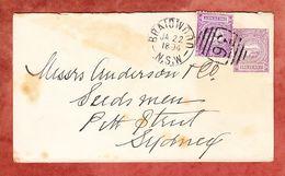 Ganzsache Ascher U 7 + ZF Jubilaeumsausgabe, Braidwood Nach Sydney 1894 (55796) - Briefe U. Dokumente