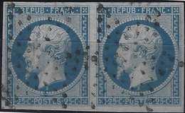 FRANCE Louis Napoléon 1852 N°10a En Paire  25c Oblitéré étoile De Paris Superbe Signé A.BRUN - 1852 Louis-Napoléon