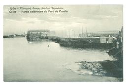 1900's, Greece, Crete, 'Partie Exterieure Du Port De Candle.' Printed Pc, Unused. - Greece