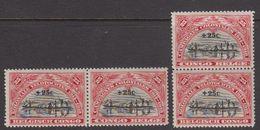 Belgisch Congo 1925 Koloniale Veldtochten 2x2w ** Mnh (40007G) - Belgisch-Kongo