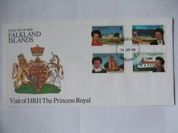 FALKLAND ISLANDS - 1996 FDC - Visit Of HRH The Princess Royal - Falkland Islands