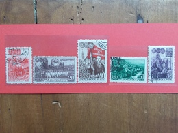 RUSSIA 1948 - 30° Anniversario Komsoll - Nn. 1286/89+1291 Timbrati + Spese Postali - 1923-1991 URSS