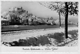 C.P.  PICCOLA    HERZLICHE  GLUCKWUNSCHE    NEUEN  JAHRE     2 SCAN   (VIAGGIATA) - Nouvel An