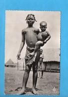 AEF 06 - Jeune Fille Et Enfant Bacongo - Nu Sein - Gabon