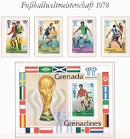 Soccer Football Grenada Grenadines #305/8 + Bl 38 1978 World Cup Argentina MNH ** - Coupe Du Monde
