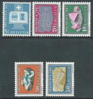 1961 SVIZZERA PRO PATRIA MINERALI E FOSSILI MNH ** - I59-2 - Nuovi