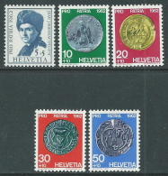1962 SVIZZERA PRO PATRIA J.J. ROUSSEAU E MONETE ANTICHE MNH ** - I59-2 - Pro Patria