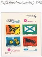 Soccer Fussball Football Uruguay Bl 40 1978 World Cup Argentina MNH ** - Coupe Du Monde