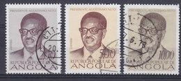 Angola 1976 Mi. 613, 615, 616 A    Unabhängigkeit 1 Jahr Präsident Agostinho Neto - Angola
