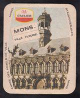 Ancien Sous Bock Bière CAULIER Hôtel De Ville De Mons  - Belgique Bier Coaster - Sous-bocks
