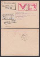 DDR ZKD Brief VD Stempel Rot, Dresden Industrie- U. Handeslkammer Vertrauliche Dienstsache 16.7.68, Bf An 3 Seiten Offen - [6] Oost-Duitsland