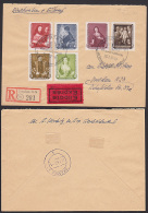 """Gemäldegalerie Dresden R-Eil-Brief 1957 Am Zwinger Wiedereröffnet! Tizian """"Der Zinsgroschen"""", Hans Holbein D.J. - DDR"""