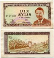 Guinea - 10 Sylis 1971 - Guinea
