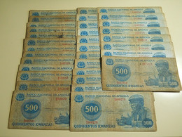 Lot 33 Banknotes 500 Kwanzas 1979 Angola - Monete & Banconote