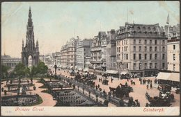 Princes Street, Edinburgh, 1904 - Blum & Degan Postcard - Midlothian/ Edinburgh