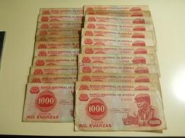 Lot 23 Banknotes 1000 Kwanzas 1979 Angola - Monete & Banconote