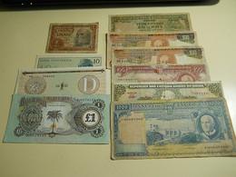 Lot 10 Banknotes - Mezclas - Billetes