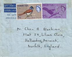 Mauritius 1967 Port Louis Pigeon Without Watermark Aerogramme - Mauritius (1968-...)
