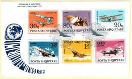 Albania Stamps 1991. History Of Aviation. Planes, Transport, Aircraft. FDC Set MNH. Michel 2480-2485. Dt. 27.1.1992 - Albania