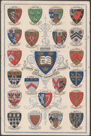 Arms Of The Colleges Of Oxford University, 1907 - Postcard - Oxford