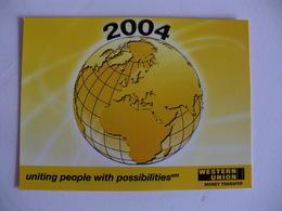 Bank Banque Banco Western Union Pocket Calendar 2004 - Small : 2001-...