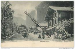 Lauterbrunnen - Werbekarte Von F. L. Caillers - Vertrieb In Liverpool - BE Berne