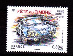 F. 2018  Fête Du Timbre  0.80 € / Neuf** /  Automobile Alpine A110 /  Course, Rallye - France