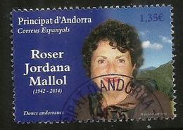 Donnes Andorranes. Roser Jordana Mallol, Un Timbre Oblitéré, 1 ère Qualité, 2018 . Haute Faciale - Used Stamps