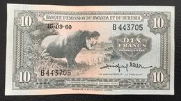 Rwanda Et Burundi Billet De 15/06/60 - Rwanda