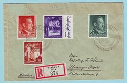 Generalgouvernement Einschreiben Aus Krakau Mit 76, 67, 80 Und 69 - Occupation 1938-45