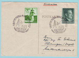 Generalgouvernement Postkarte Mit Sonderstempel Aus Zakopane Mit 42 Und 80 (MiF) - Occupation 1938-45