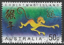 Christmas Island SG540 2004 Chinese New Year 50c Good/fine Used [3/3294/6D] - Christmas Island